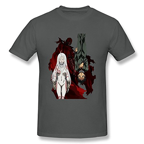 KAITIAN Deadman Wonderland Men's Short Sleeve T-shirt DeepHeather Size S (Deadman Wonderland Shirt)