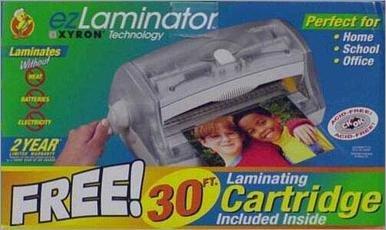 - ezLaminator Cold Lamination Machine With 30 ft. Cartridge