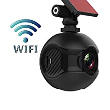 Edota WIFI Dash Cam Full HD 1080p 170°Angle View Mini Intelligent Dashboard Camera Recorder Car DVR for G-Sensor, Parking Mode, Loop recording,Remote control camera,HDR & Super Night Vision with 2.4G Wireless Remote Controller