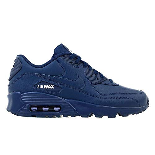 Nike 833412-412: Boy's Air Max 90 Midnight Navy/White (GS) Sneaker (5.5)