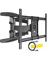 Invision Ultra Sterke TV-Muurbeugel voor 37-70 inch (94-178 cm) Schermen, Dubbele Arm Zwenk/Kantelbaar en Uitschuiven, VESA 200x200mm tot 600mm (b) x 400mm (h) - Max Belasting 50kg (HDTV-DXL)