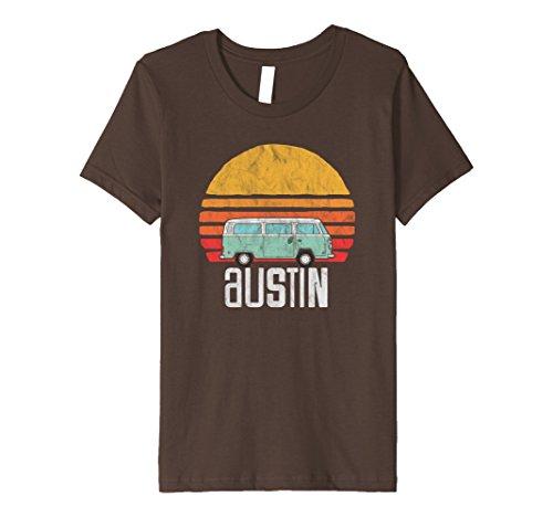 Kids Austin, Texas - Vintage Hippie Van Road Trip T-Shirt 4 (Girls Austin Clothing)