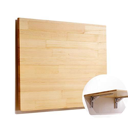 Mesa de Hoja abatible de bambu Natural de Pared, Escritorio Plegable de Cocina y Mesa de Comedor - 80X50cm / 100X40cm / 100X50cm / 120X30cm / 120X40cm / 120X50cm (Size : 80X50cm)