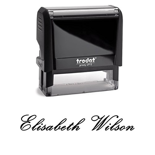 - Customizable Custom Font With Personalized Name. Great Labelling Self Inking Stamp With Unique Font. Perfect For Routine Paperwork And Regular Signing Of Name. Signature Stamp, Black Ink Stamper