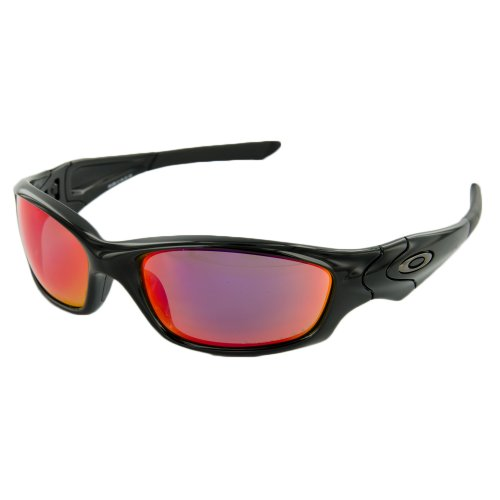 Oakley mens Straight Jacket 26-236 Iridium Polarized Sport Sunglasses,Polished Black,55 - Straight Oakley Sunglasses