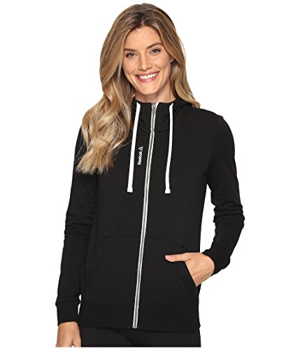 Reebok Women's Elements FT Full Zip Hoodie, Medium, Black