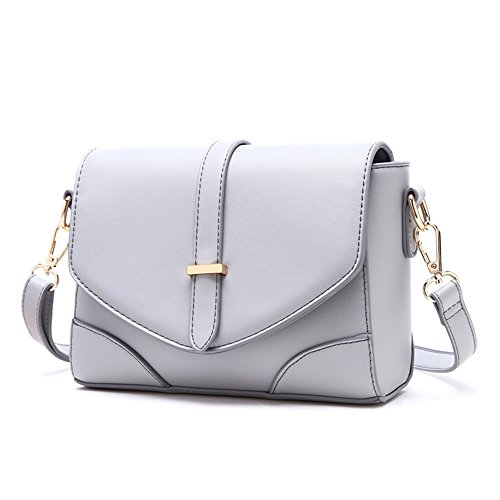 Paquete pequeño, versión coreana de la mochila oblicua salvaje, bolsos, simple mini bolso de hombro, la atmósfera pequeña bolsa cuadrada ( Color : Negro ) Gris