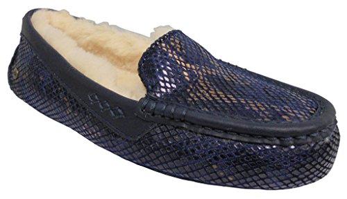 Ugg Womens Ansley Exotische Fluwelen Pantoffel In Geschenkdoos Indigo