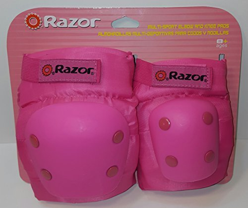 New Razor Pink Multi-Sport Protective Knee & Elbow Pads Yout