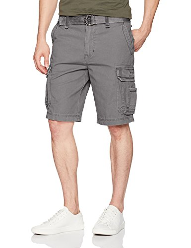 Bermuda Shorts Pocket (UNIONBAY Men's Survivor Belted Cargo Short, Grey Goose, 38)