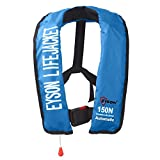 Eyson Slim Inflatable PFD Life Jacket Life Vest Adult Automatic/Manual (ES639731 Blue)