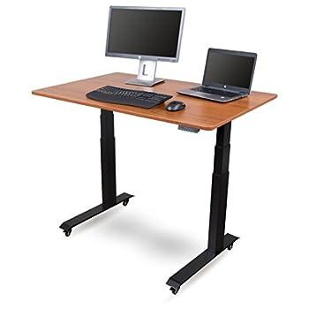 48″ Electric Stand Up Desk (Black Frame/Teak Top)