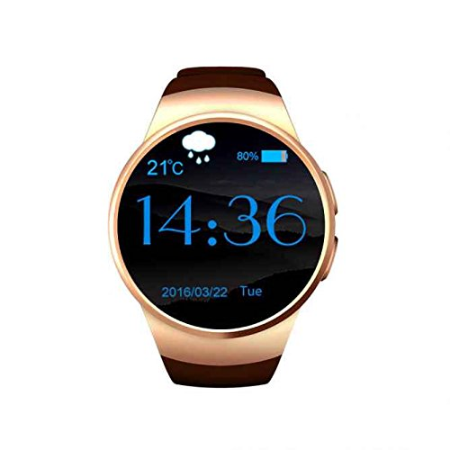 Reloj De Pulsera Smart Reloj Teléfono con ranura de tarjetas SIM, chasis de metal reloj deportivo, multifunciones Monitor de frecuencia cardíaca, ...