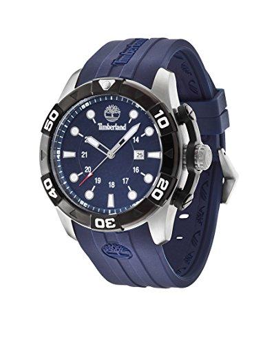 Timberland 14108JSTB-03 Mens Arlington Blue Rubber Strap Watch