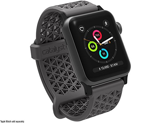 Catalyst Compatible with Apple Watch Band 40mm 38mm, Quick Release Silicone Hypoallergenic Sport Band 22mm for Apple Watch Series 4, Series 3, Series 2, Series 1 - Space Gray