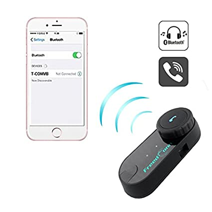equitazione Intercom full duplex Freedconn T-COMVB kit interfono per casco sci supporta la connessione di 2 per motocicletta con altoparlante Bluetooth 3 piloti