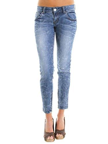 Jeans Vestibilità Donna Per Denim Slim Look 760 Regular Carrera Capri Modello Tessuto Vita Elasticizzato HqwARRBd