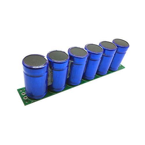 KOOBOOK 1Set(6pcs) 2.7V 500F Farad Capacitor Super Capacitor With Protection Board