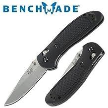 Benchmade 551 Pardue Drop Point Griptilian Plain Edge Folding Knife.