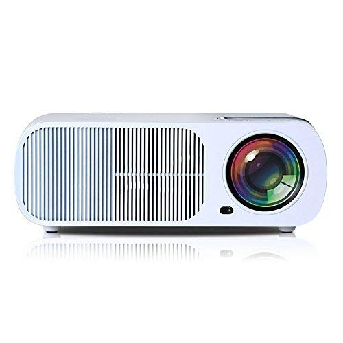 Roadwi 2600 Lumens Home Theater Projector Outdoor Movies Support HDMI VGA AV USB LED Cinema LCD Display for Kids Gaming ...