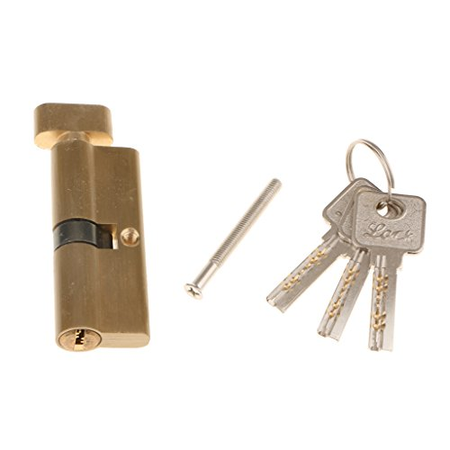 Fityle 3 Keys Silver Tone Copper Metal Safety Protective Interior Room Home Door Lock Core 85mm by Fityle (Image #6)