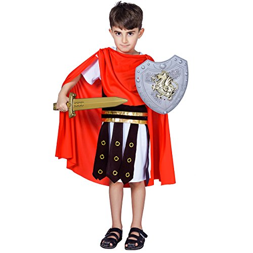 Boy's Roman Warrior Costume (M (7-9Y)) -