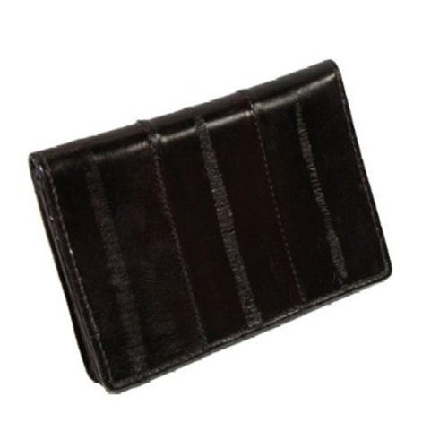 Eel Skin Business Card - MJ Masters Mens Eel Skin Credit Card and Business Card Case, Brown
