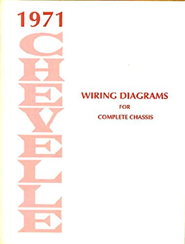 - 1971 CHEVROLET CHEVELLE COMPLETE FACTORY SET OF ELECTRICAL WIRING DIAGRAMS & SCHEMATICS GUIDE - 8 PAGES. 71