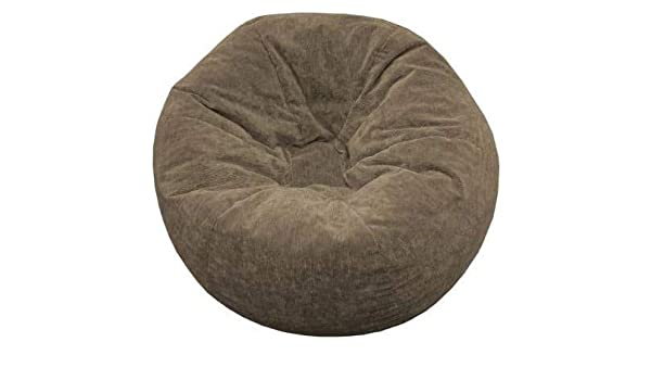 Enjoyable Amazon Com Giant Bean Bag Chairs For Adults Brown Sueded Theyellowbook Wood Chair Design Ideas Theyellowbookinfo