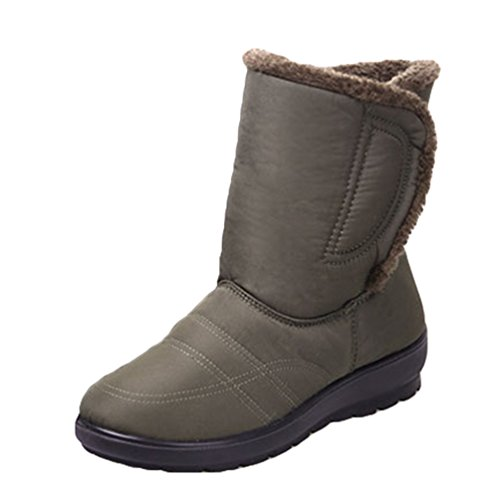 Da Scarpa Yiiquan Stivaletti Pelliccia Boots Donna Verde Impermeabile Neve Inverno Caldi Stivali r1TT8wYpqx
