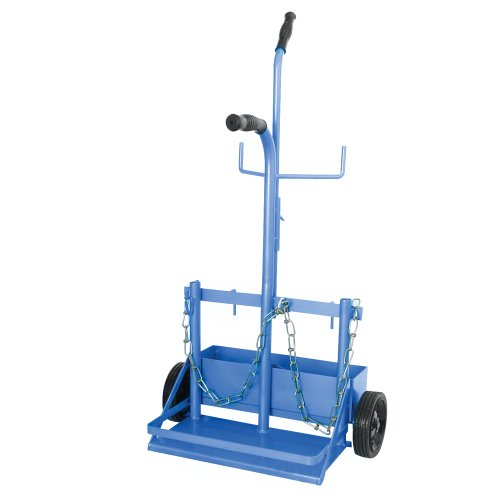 (Uniweld 504 Metal Carrying Stand with Wheels for MC or B Tank and R-Oxygen or R40)