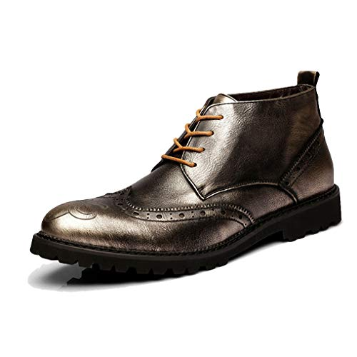 Steel Jump Toe Boots (Starttwin Men's Oxfords Boots Autumn Winter Non-Slip Wear-Resisting Formal Dress Boots)