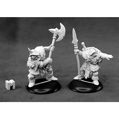 Orc Warriors Miniature 25mm Heroic Scale Dungeon Dwellers Reaper Miniatures