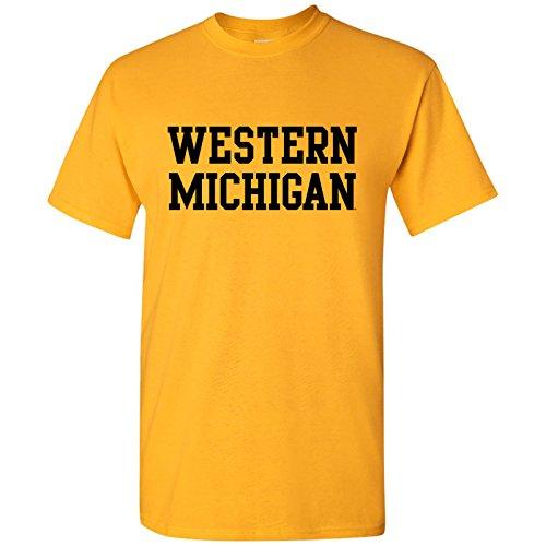 UGP Campus Apparel Western Michigan Basic Mens T-Shirt - 2X-Large - Gold