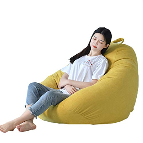 DQM Bean Bag Chair, Stuffed Storage Bird's nest Bean Bag Chair, Great for Studying Even Family Movie Night, Game Play Dates, and Reading, Ease of Care Durability, Covers are Soft (Birds Nest Bean Bag)