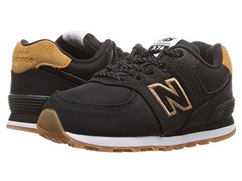[new balance(ニューバランス)] メンズランニングシューズ?スニーカー?靴 IC574v1 (Infant/Toddler) Black/Brown Sugar 10 Toddler (17cm) W