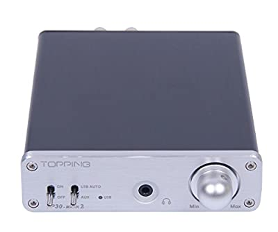 Topping TP30 MARK2 MK2 Digital Hi-Fi Power Stereo Subwoofer Amplifier 16bit/48kHz USB DAC Headphone Amp