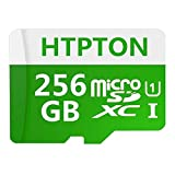 HTPTON 256GB Micro SD SDXC Card High Speed Class 10 Memory SD Card with SD Adapter