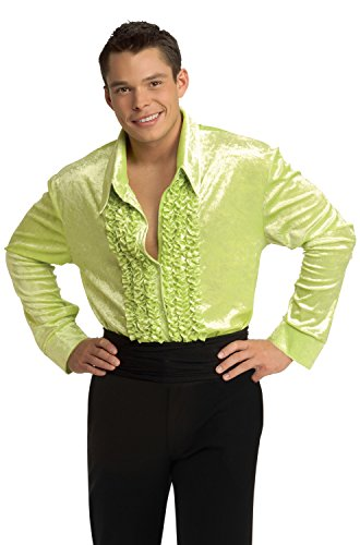 Rubie's Costume Co Green Velvet Disco Shirt Costume, - Velvet Shirt Big