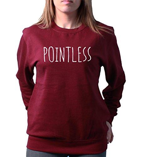Pointless Zoella Fashion Funny Slogan Ladies Unisex Loose Fit Sweatshirt