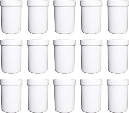 15 Salbendöschen, Cremedöschen, Salbenkruke hoch, 75ml Inhalt - MADE IN GERMANY