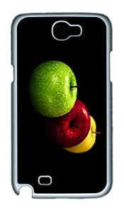 uncommon covers Yello Red Green Apples PC White case/cover for samsung galaxy N7100/2