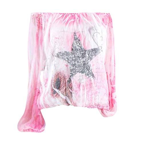Star Manches Femmes Dnudes Imprim paules T Rose Innerternet Chemise Shirt Longues Casual toile Imprime Blouse B0Xqa0ndv