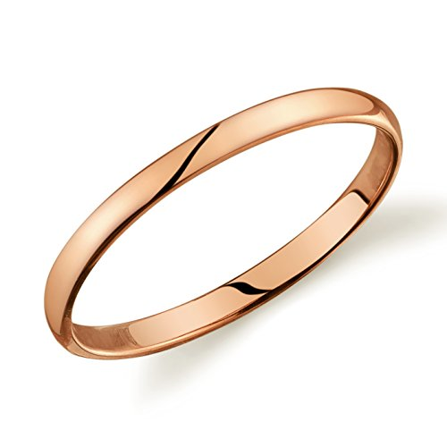 10k Yellow or White or Rose Gold Light Comfort Fit 2mm Wedding Band