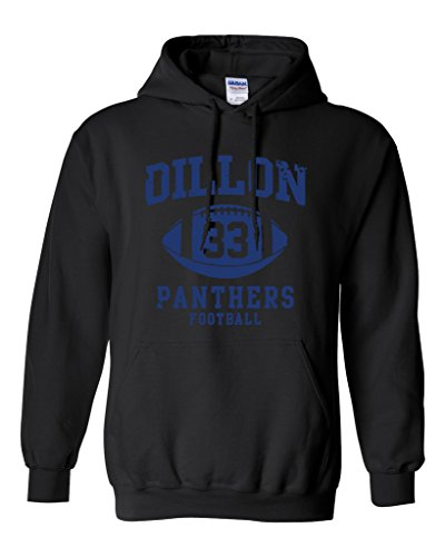 Dillon 33 Football Retro Sports Novelty DT Sweatshirt Hoodie (Medium, Black)