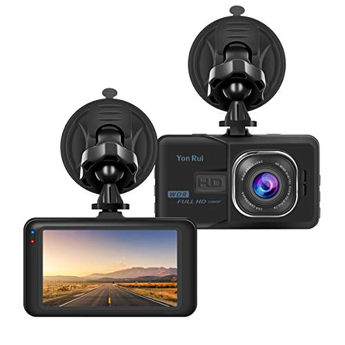 Dash Cam 1080P Full HD Car DVR 3'' LCD Screen 170° Wide Angle 4 Lanes Traffic,Loop Video and Motion Detection Dashboard Camera
