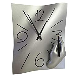(NEW Countertops and Hardware) Antartidee Free Hand Wall Clock Modern Art Design Unique Hand Made Italy