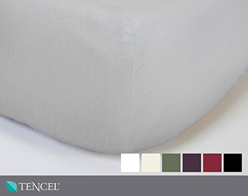 QE Home TENCEL Blend Fitted Sheet | Queen | White