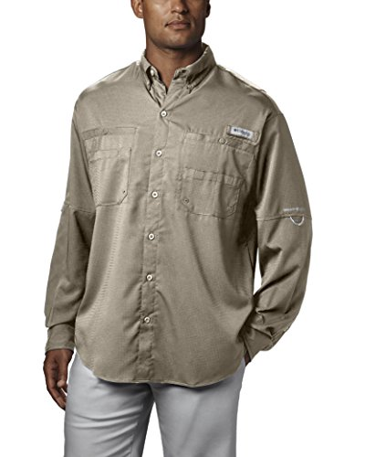(Columbia Men's Plus Tamiami II Long Sleeve Shirt, Fossil - 3X Big)