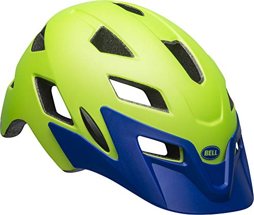Bell Sidetrack Youth Bike Helmet - Matte Bright Green/Blue - UY (50-57 cm)
